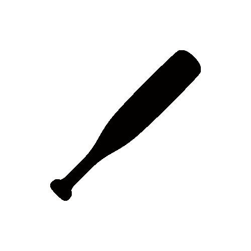 野球・バット モノクロアイコン フリー素材
