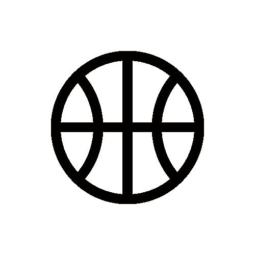 バスケットボール モノクロアイコン フリー素材