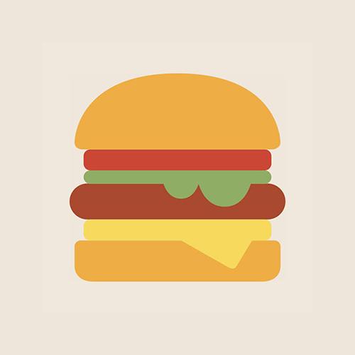 ハンバーガー フラットデザイン カラーイラスト アイコン フリー素材
