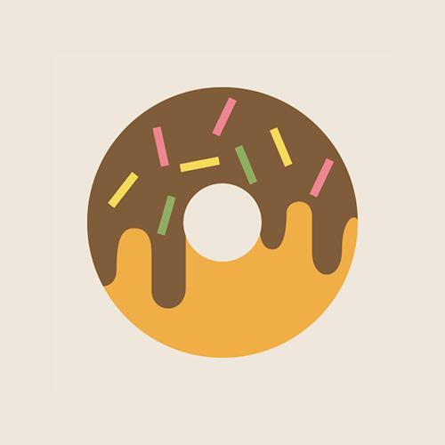 ドーナツのアイコン フリー素材
