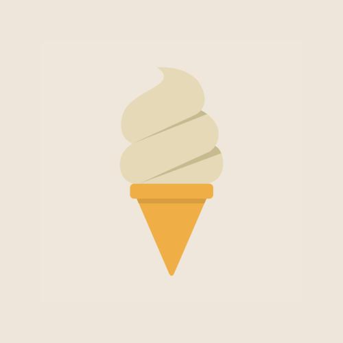 ソフトクリーム フラットデザイン カラーイラスト アイコン フリー素材