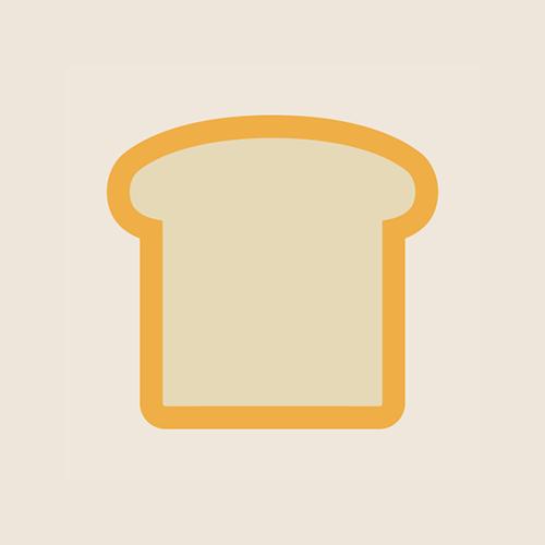 食パン・朝食 フラットデザイン カラーイラスト アイコン フリー素材