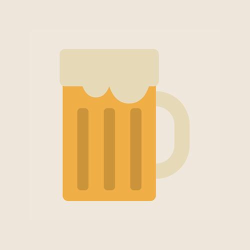 生ビール フラットデザイン カラーイラスト アイコン フリー素材