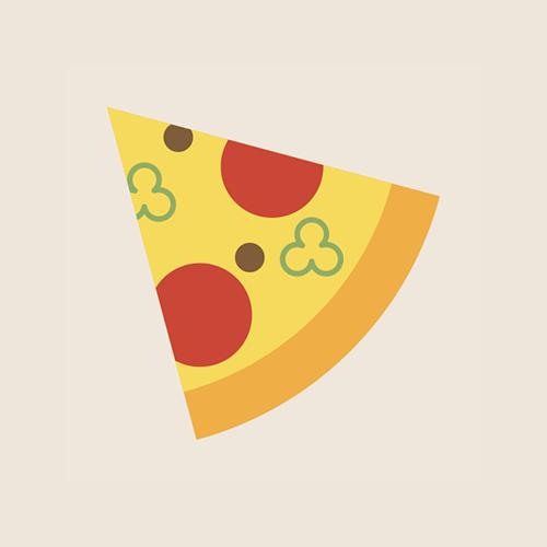 ピザ フラットデザイン カラーイラスト アイコン フリー素材