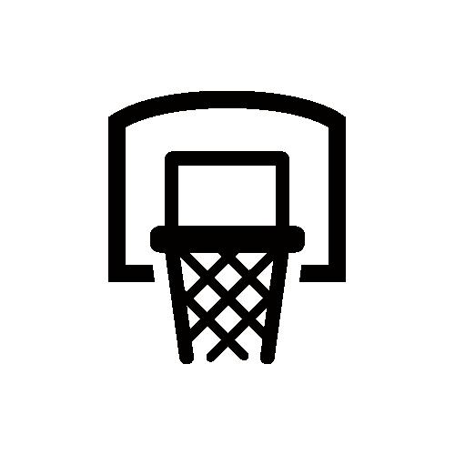 バスケットリング モノクロアイコン フリー素材