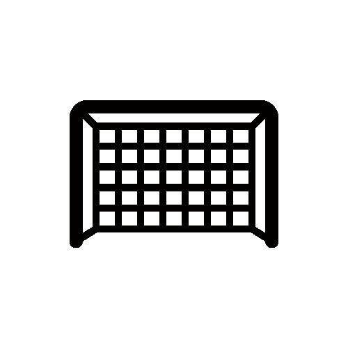 サッカーゴール モノクロアイコン フリー素材