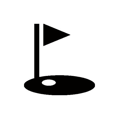 ゴルフ ホール モノクロアイコン フリー素材