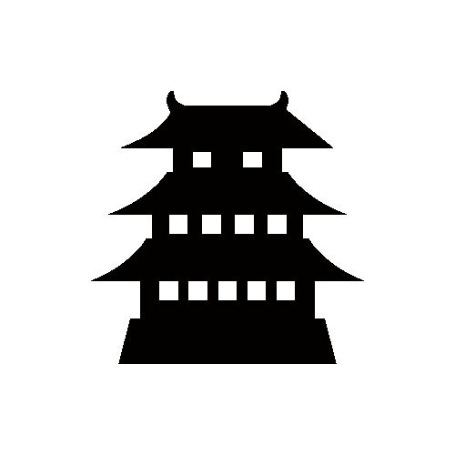 お城のアイコン フリー素材