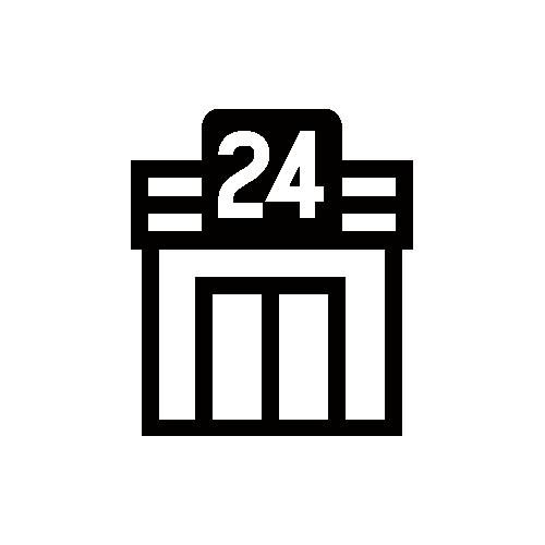 コンビニ モノクロアイコン フリー素材