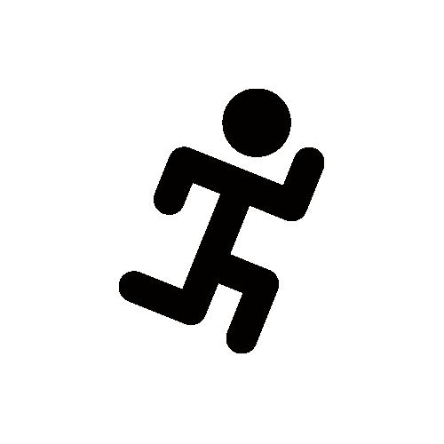 体育館・運動場・ランニング モノクロアイコン フリー素材