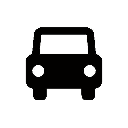 車 モノクロアイコン