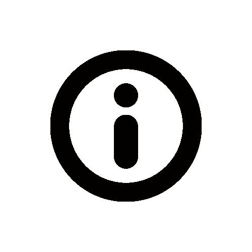 インフォメーション モノクロアイコン フリー素材