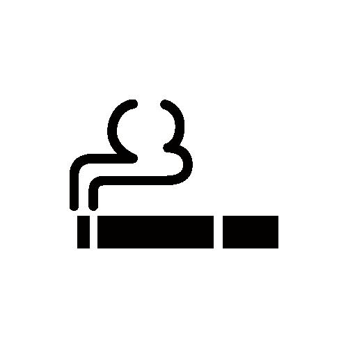 タバコ・喫煙所 モノクロアイコン フリー素材