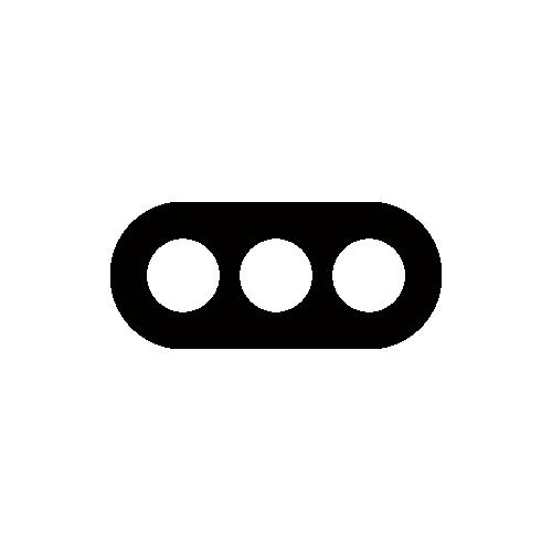 信号機 モノクロアイコン