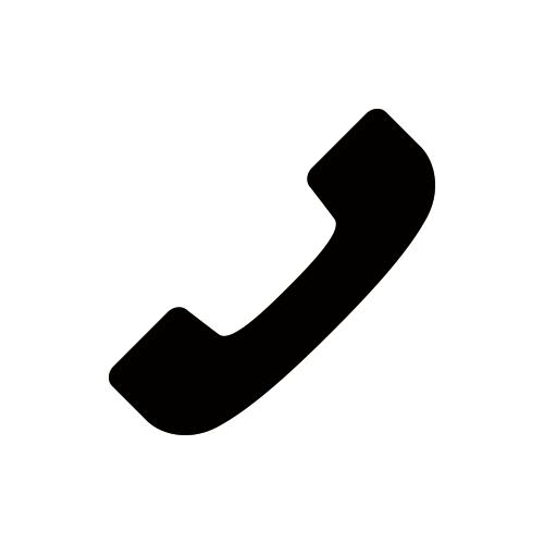 電話 モノクロアイコン素材3