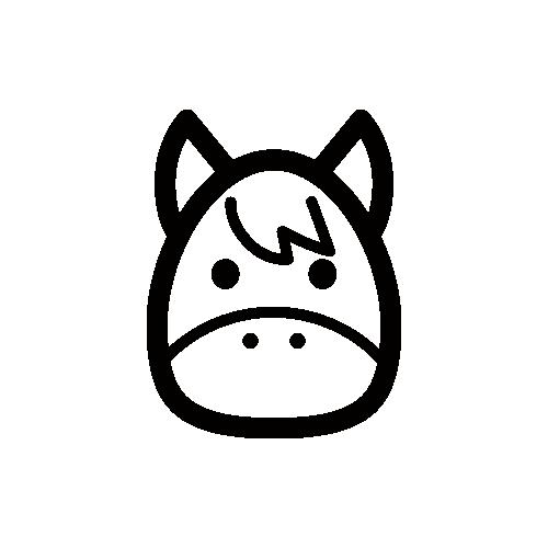 ヘビ モノクロアイコン素材
