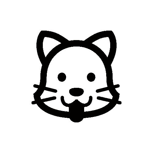 犬 モノクロアイコン素材