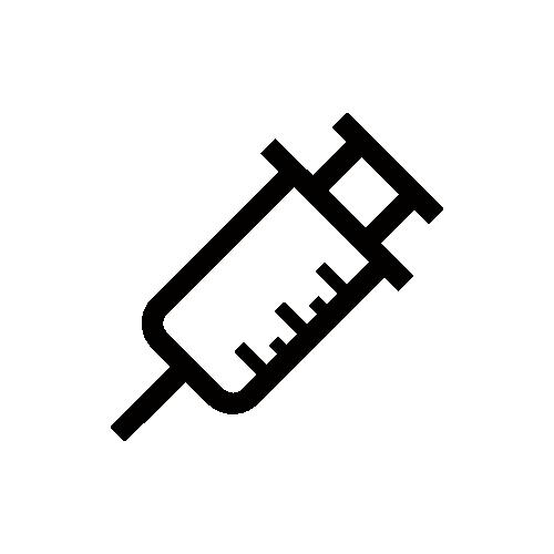 注射器 モノクロアイコン素材