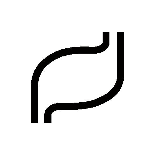胃袋 モノクロアイコン素材
