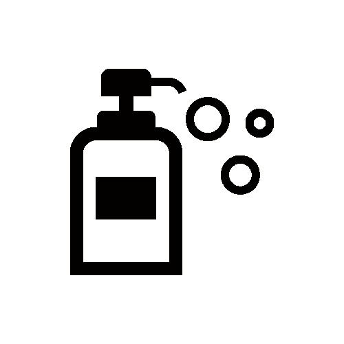 ハンドソープ モノクロアイコン素材