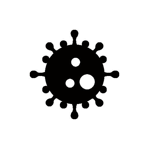 ウイルス モノクロアイコン素材