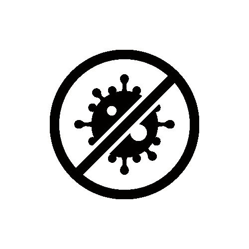 ウイルス・殺菌 モノクロアイコン素材