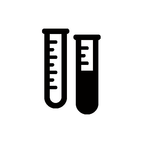 試験管 モノクロアイコン素材