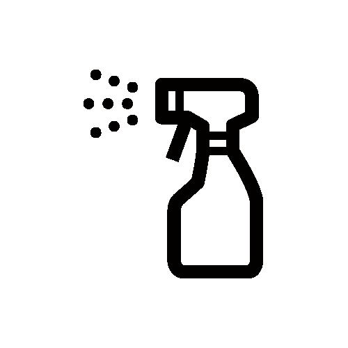 除菌・アルコール消毒液・スプレー モノクロアイコン素材