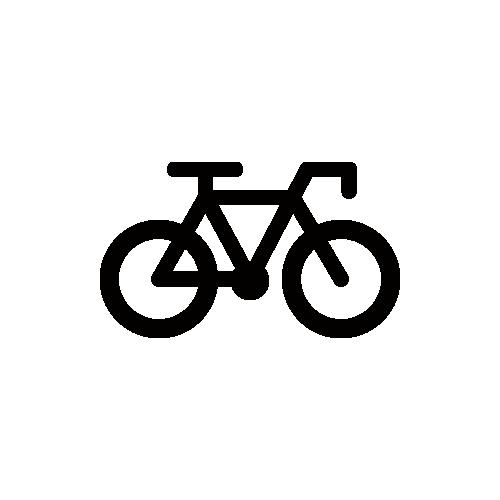 自転車・サイクリング・競輪 モノクロアイコン素材