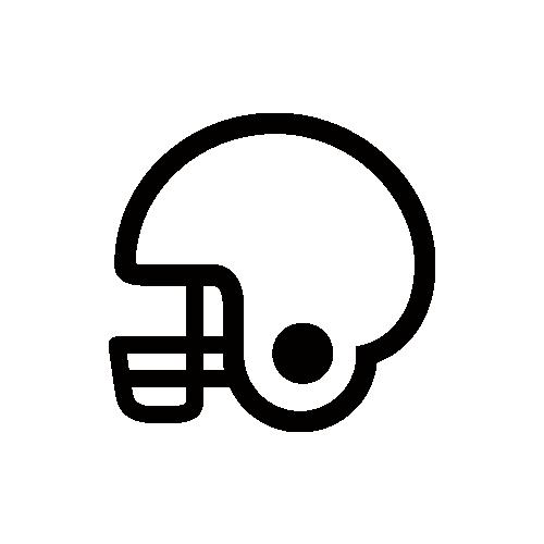 アメフト・アメリカンフットボール・ヘルメット モノクロアイコン素材