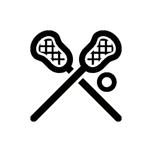ラクロス モノクロアイコン素材
