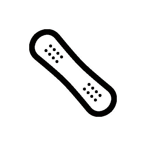 スノーボード・ウィンタースポーツ モノクロアイコン素材