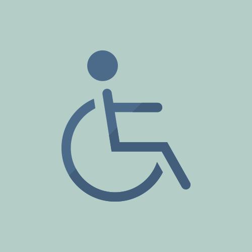 車椅子 フラットデザイン カラーイラスト アイコン フリー素材