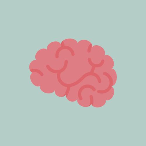 脳 フラットデザイン カラーイラスト アイコン フリー素材