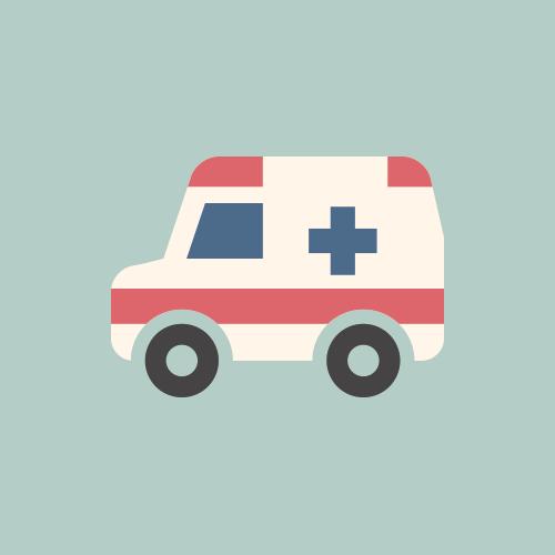 救急車 フラットデザイン カラーイラスト アイコン フリー素材