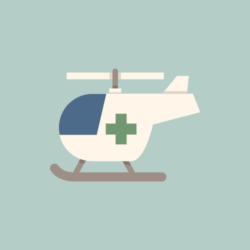救急ヘリ フラットデザイン カラーイラスト アイコン フリー素材