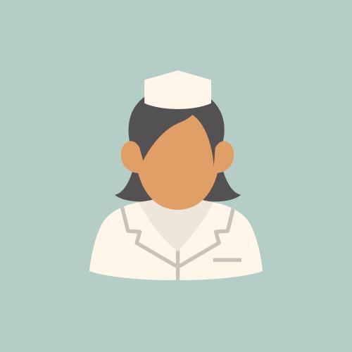 看護師 フラットデザイン カラーイラスト アイコン フリー素材