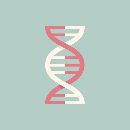 DNA フラットデザイン カラーイラスト アイコン フリー素材