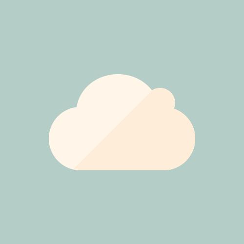 天気 曇り/雲 カラーアイコン フリー素材