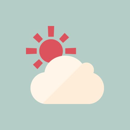 天気 晴れ時々曇り カラーアイコン フリー素材