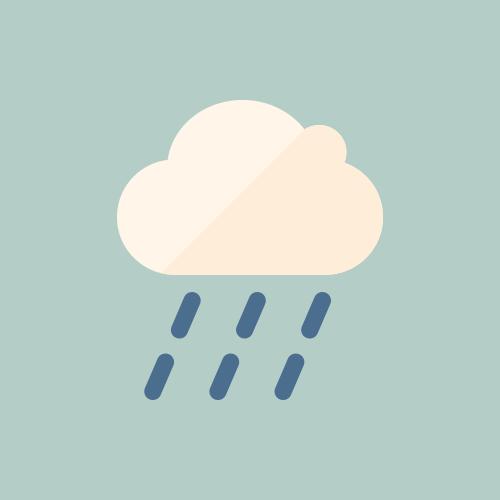天気 雨雲 カラーアイコン フリー素材