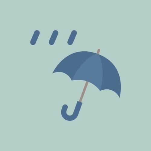 天気 雨 カラーアイコン フリー素材