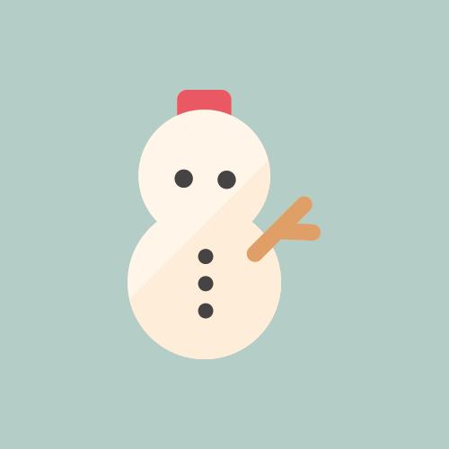 天気 雪/雪だるま カラーアイコン フリー素材