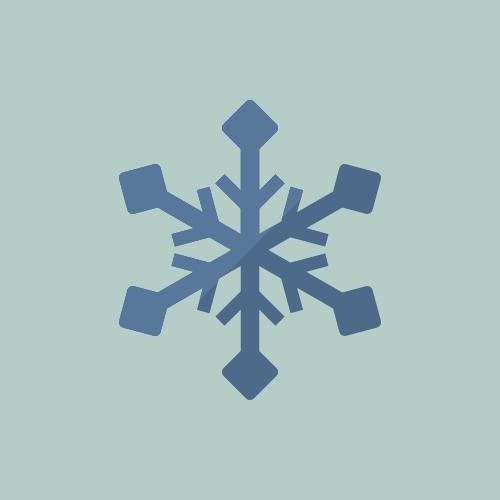 天気 雪 カラーアイコン フリー素材