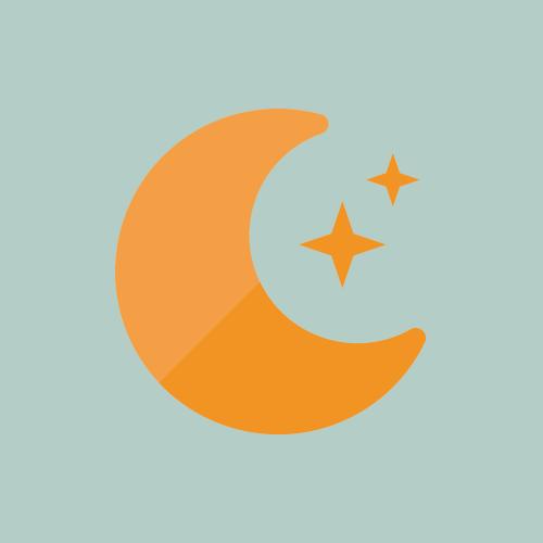 天気 夜/晴れ/月 カラーアイコン フリー素材
