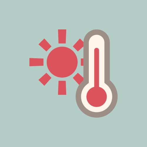 天気 猛暑 温度計 カラーアイコン フリー素材