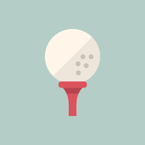 ゴルフ カラーアイコン フリー素材