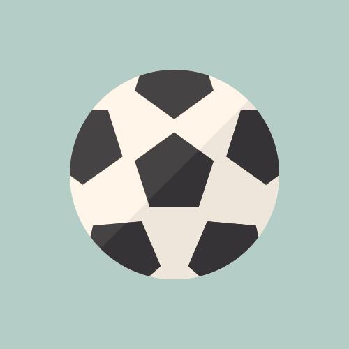 サッカーボール カラーアイコン フリー素材