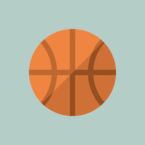 バスケットボール カラーアイコン フリー素材