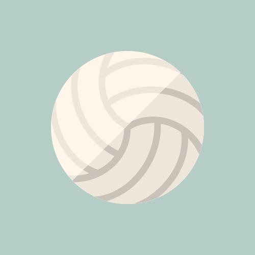 バレーボール カラーアイコン フリー素材